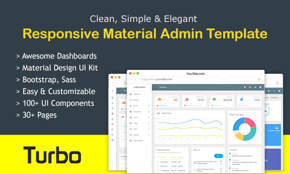 Turbo Admin – Responsive Admin Dashboard Template & Web App Kit