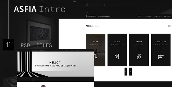 Download ASFIA Intro – CV & Resume, vCard Template nulled version