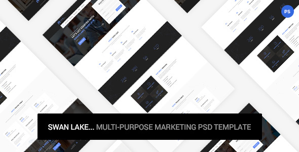 Swan Lake - Marketing PSD Template
