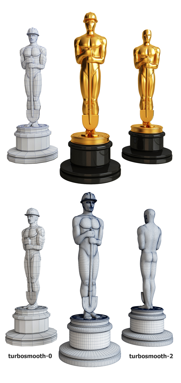 Oscar with a shovel - 3DOcean Item for Sale
