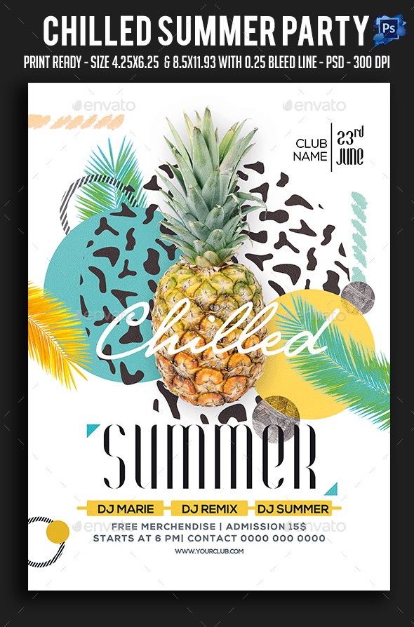 Chilled Summer Party Flyer - Clubs & Parties Events