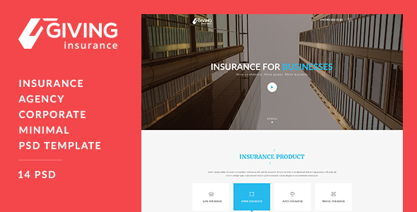 Giving - Insurance PSD Template