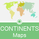Continents of the World - Maps - GraphicRiver Item for Sale
