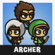 Tiny Style Archer - GraphicRiver Item for Sale