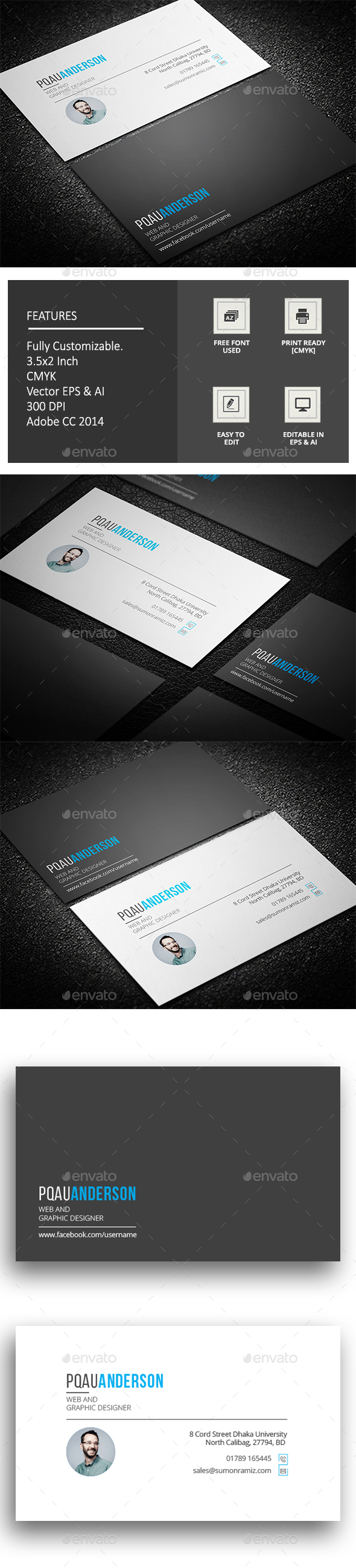 Pankha Business Card - Corporate Business Cards