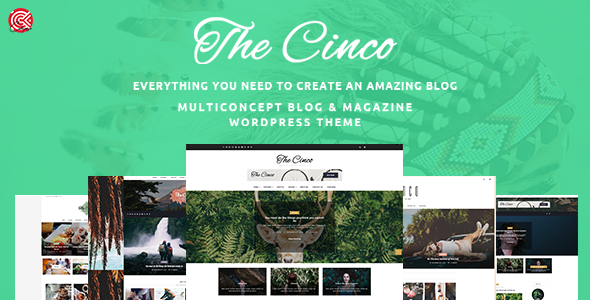 Cinco – Multi-Concept Elegant WordPress Blog Theme
