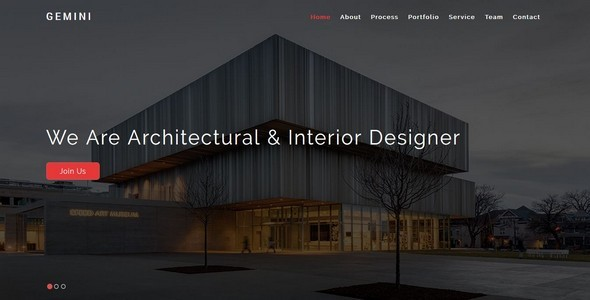GEMINI-Interior and Architecture HTML5 Template