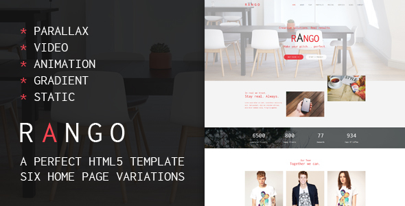 Rango Web Agency – Multipurpose HTML5 Template