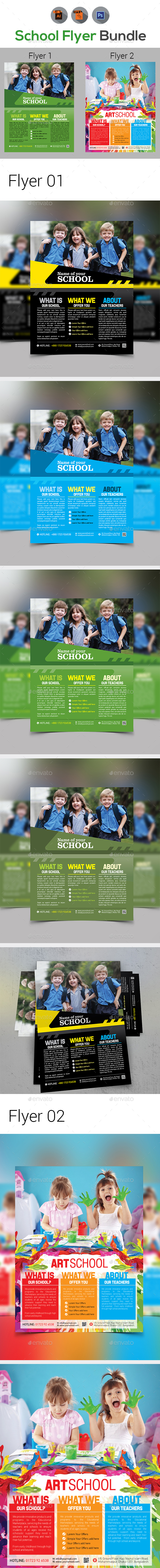 School Flyer Bundle - Corporate Flyers