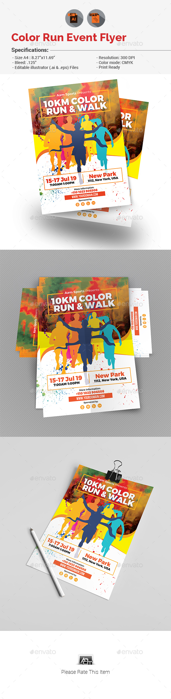 Color Run Event Flyer - Events Flyers