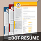 Dot Resume - GraphicRiver Item for Sale