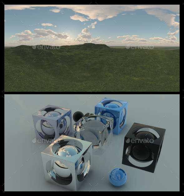 Open Grass Field 6 - HDRI - 3DOcean Item for Sale