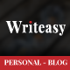 Writeasy Blog - Personal PSD Blog for Writing - ThemeForest Item for Sale
