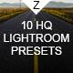 10 HQ Lightroom Presets - GraphicRiver Item for Sale