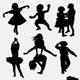 Attractive kids silhouette - GraphicRiver Item for Sale