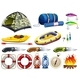 Camping set with tent and other equipment - GraphicRiver Item for Sale