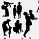 Happy People Silhouette - GraphicRiver Item for Sale