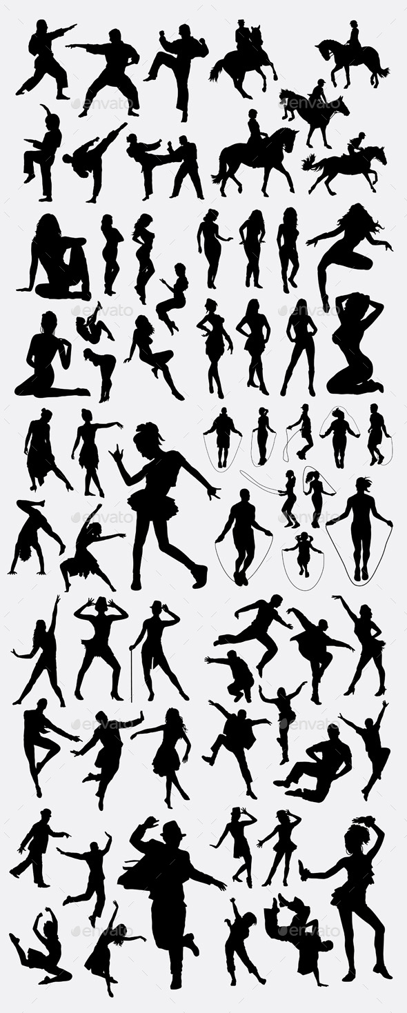 People Gesture Silhouette - Sports/Activity Conceptual