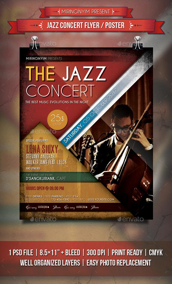 Jazz Concert Flyer / Poster - Events Flyers