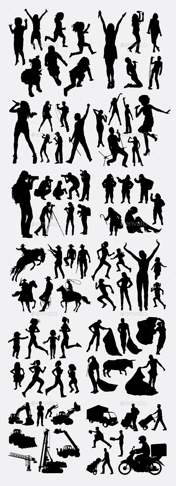 Activity Silhouette - People Characters