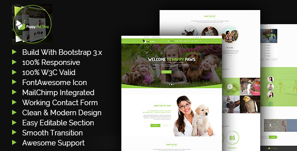 Petshop -  Pet Shop, Veterinary Template - Miscellaneous Site Templates