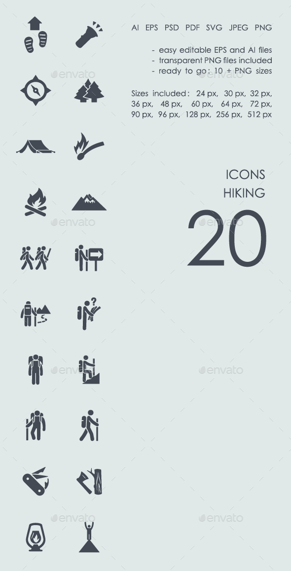 Hiking Icons - Icons