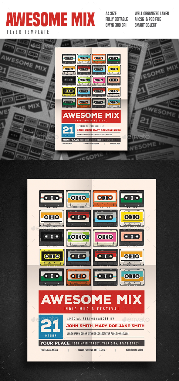 Mix Gigs Event Flyer - Events Flyers