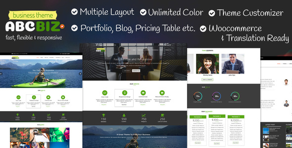 Abcbiz – Responsive WordPress Theme For Business