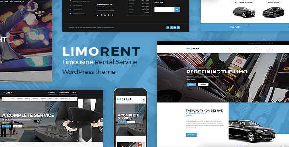 Limo Rent – Limousine and Car Rent WordPress Theme