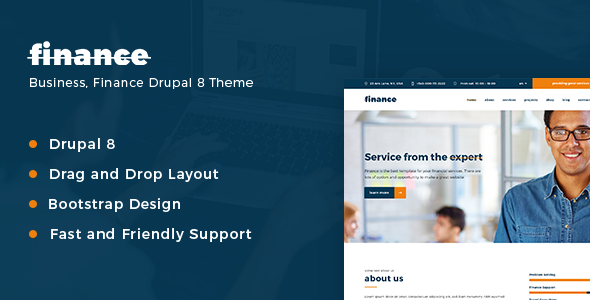 Finance, Consulting & Business Drupal 8 Theme - Corporate Drupal