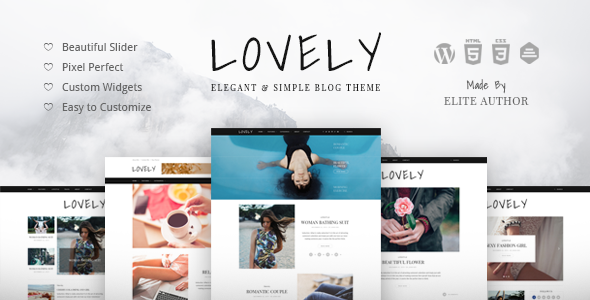 Lovely - Elegant & Simple Blog Theme - Blog / Magazine WordPress