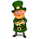3D Illustration of Saint Patrick with Gold Bullion Nulled