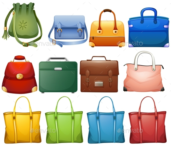 Different Design of Handbags - Man-made Objects Objects