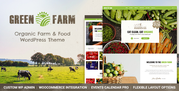 Green Farm – Organic Food Farm & Eco Food Store WordPress Theme