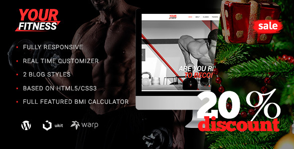YourFitness — Sport Blog | Classes | Fitness Club | Gym | Crossfit & Bodybuilding WordPress Theme - Health & Beauty Retail