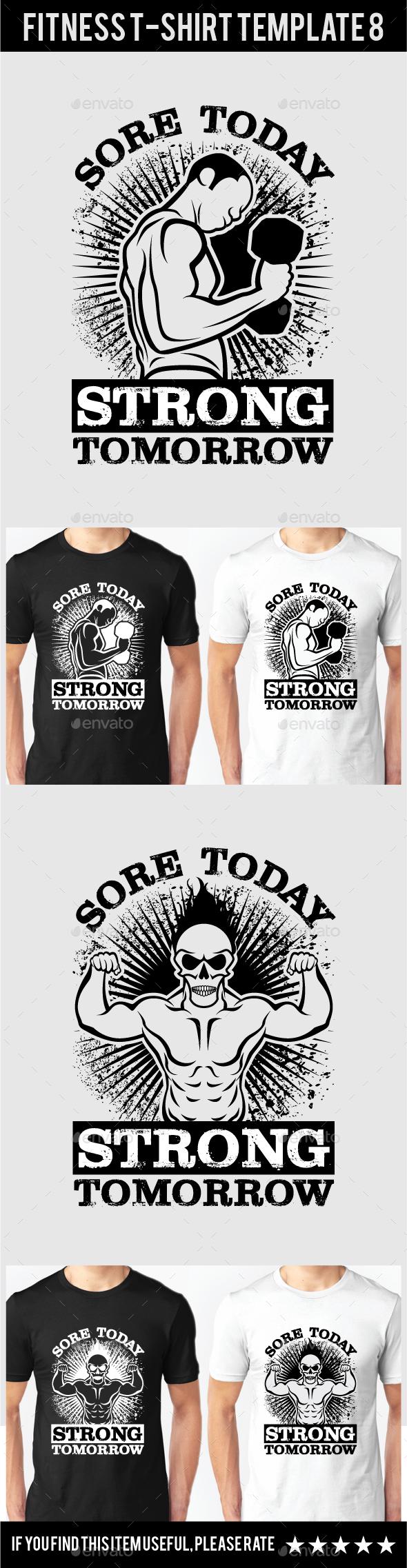 Fitness T-Shirt Template 8 - Grunge Designs