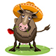 Cow in a Sombrero Nulled