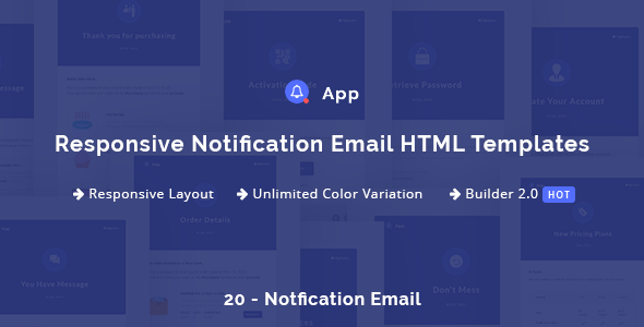 NotificationApp – Responsive Notification Email HTML Templates