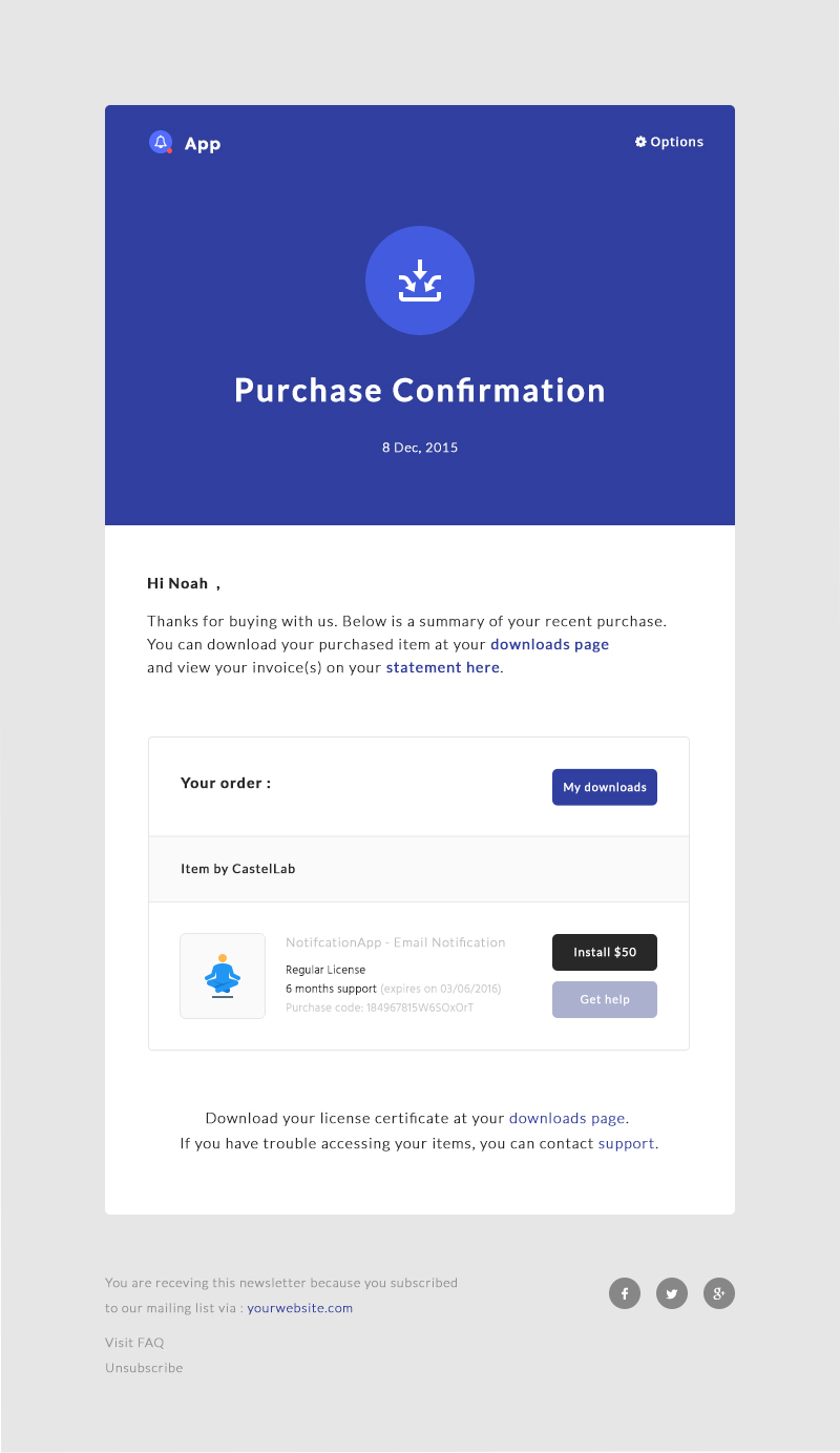 NotificationApp Responsive Notification Email HTML Templates By - Buy html email templates