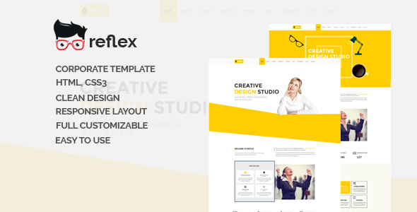 Reflex-One Page Responsive Corporate Template - Corporate Site Templates