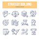 Strategy Building Doodle Icons - GraphicRiver Item for Sale