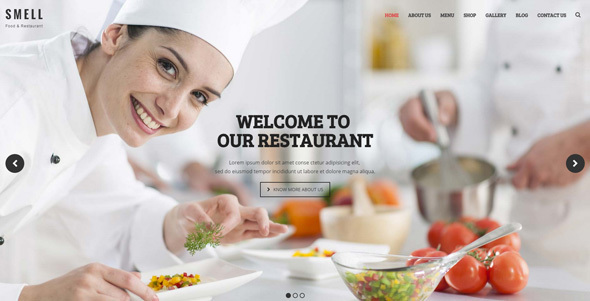 Smell – WordPress Theme for Hotels, Restaurants and Cafes