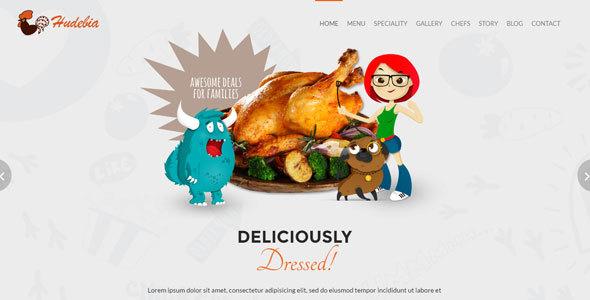 Hudebia – Restaurant HTML Template