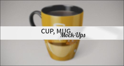 Cup, Mug Mock-Ups