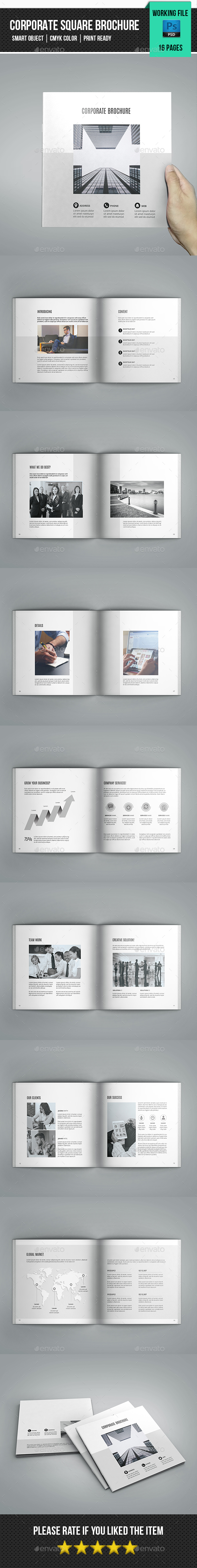 Minimal Corporate Square Brochure-V89 - Corporate Brochures