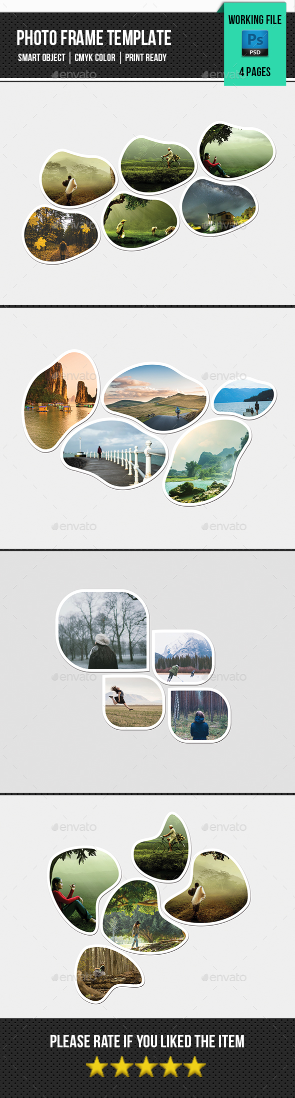 Photo Frame Template-V01 - Nature Photo Templates