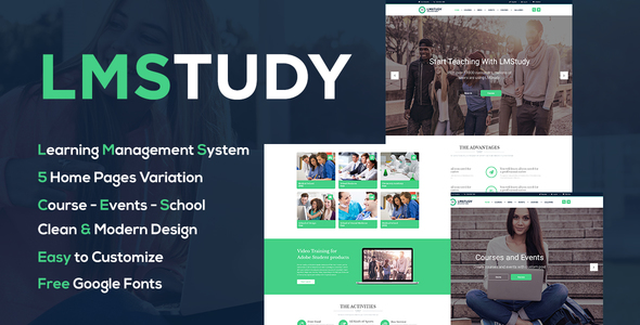 LMStudy - Course / Learning / Education LMS WooCommerce Theme - Education WordPress