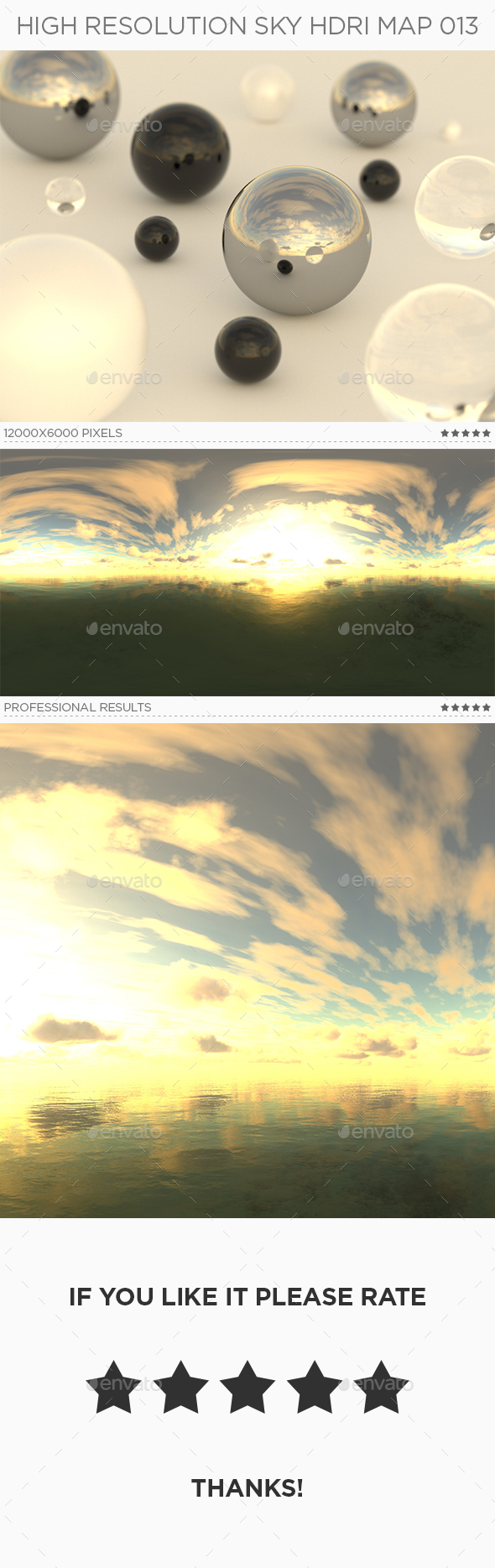 High Resolution Sky HDRi Map 013 - 3DOcean Item for Sale