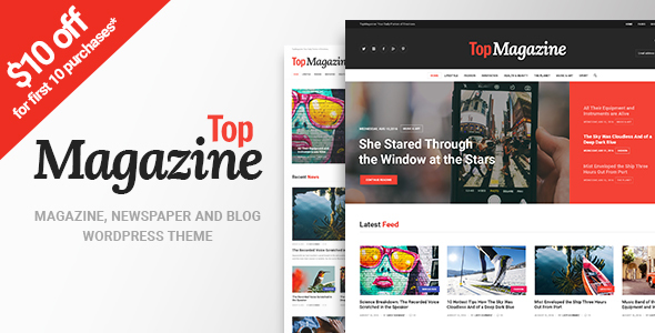 Top Magazine – News, Blog & Magazine WordPress Theme