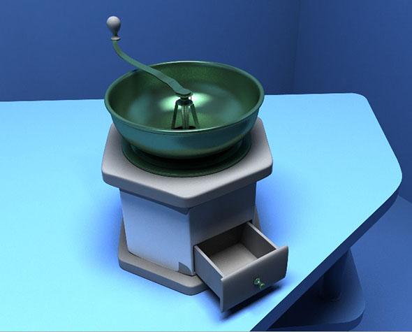 Manual coffee grinder - 3DOcean Item for Sale